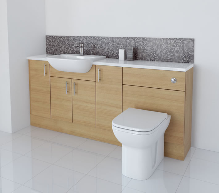 1800mm Light Oak Furniture Run