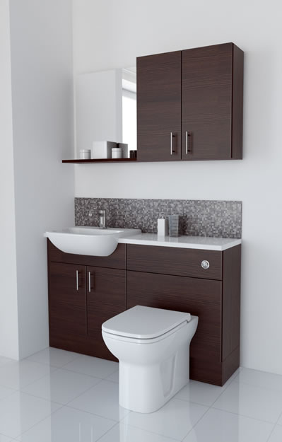 1300mm Mocha with Wall Units