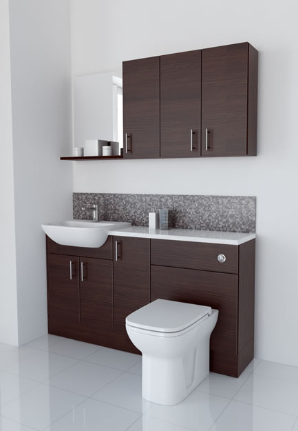 1500mm Mocha with Wall Units