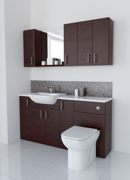 1600mm Mocha with Wall Units