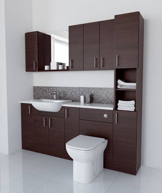 1900mm Mocha with Wall Units and Tallboy
