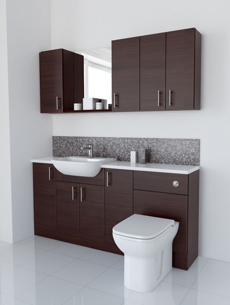 1700mm Mocha with Wall Units