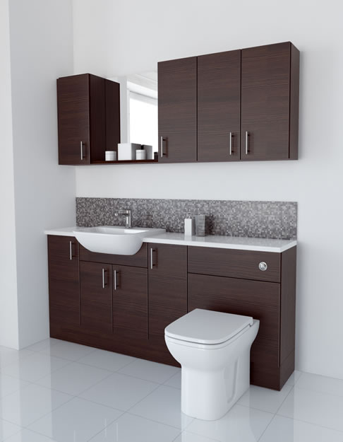 1800mm Mocha with Wall Units