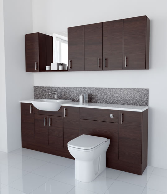 2100mm Mocha with Wall Units