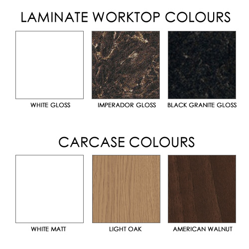 Our Worktop and Carcase Selections